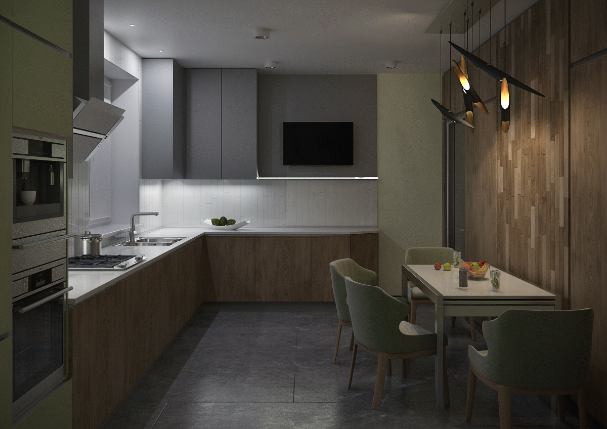Кухня 3 ночь