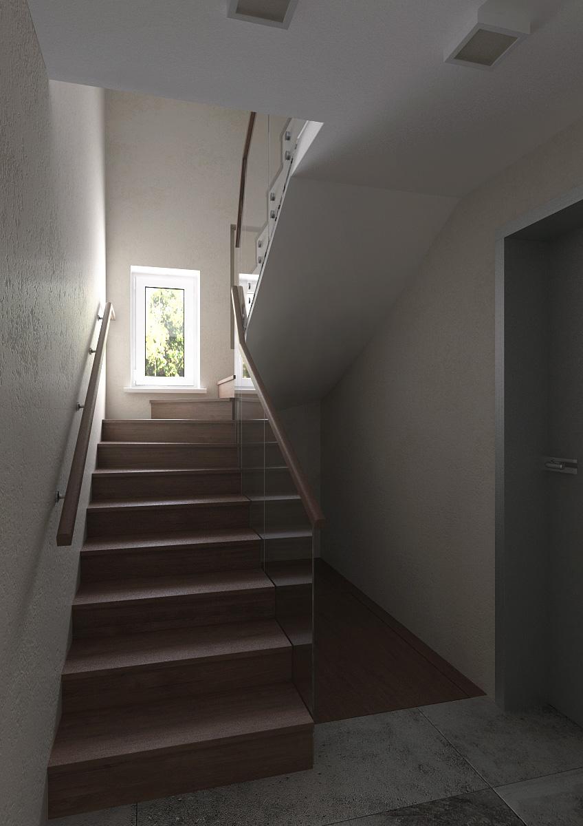 лестничная площадка -1-й день