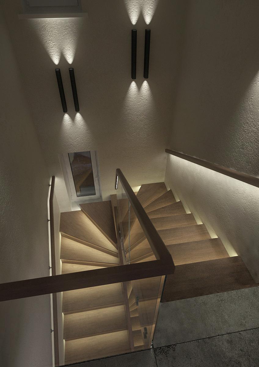 лестничная площадка 2-й ночь сверху
