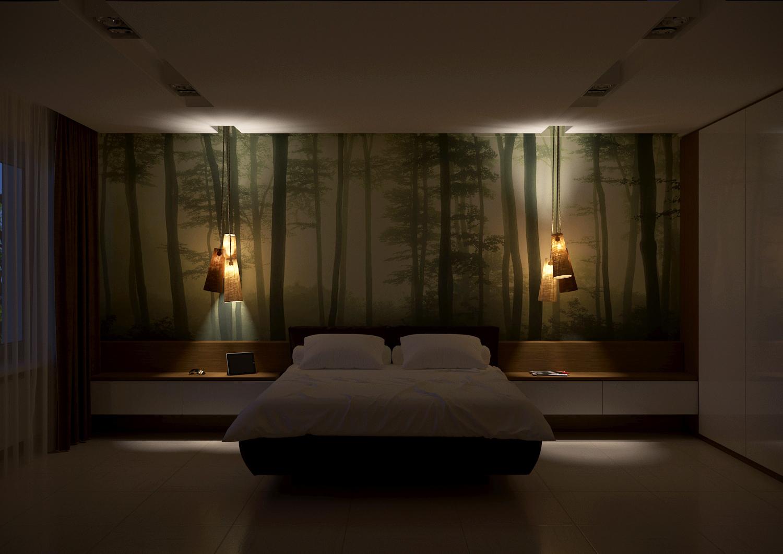 спальня 4 бра